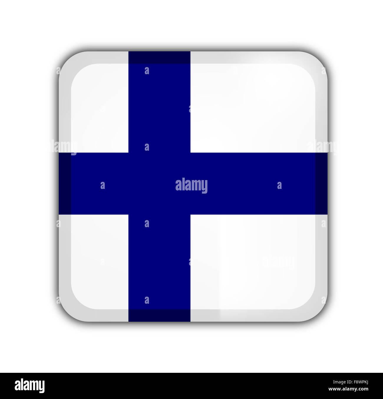 Bandera de Finlandia Imagen De Stock