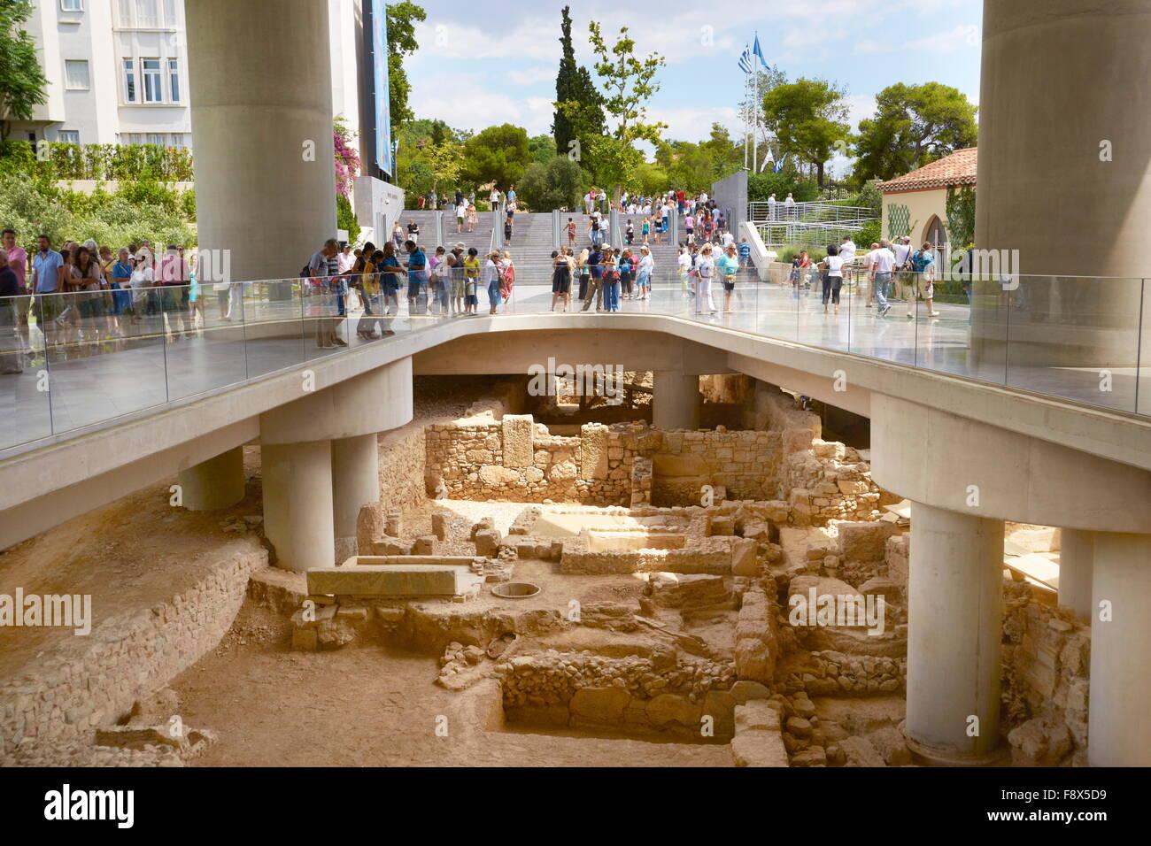 - Museo de la Acrópolis de Atenas, Grecia Imagen De Stock