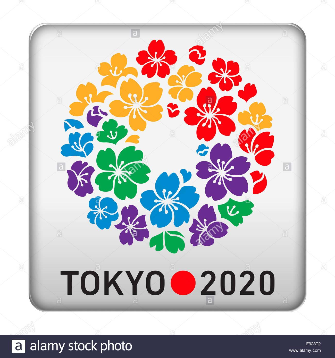 Los Juegos Olimpicos De Tokio 2020 Logotipo Icono Foto Imagen De