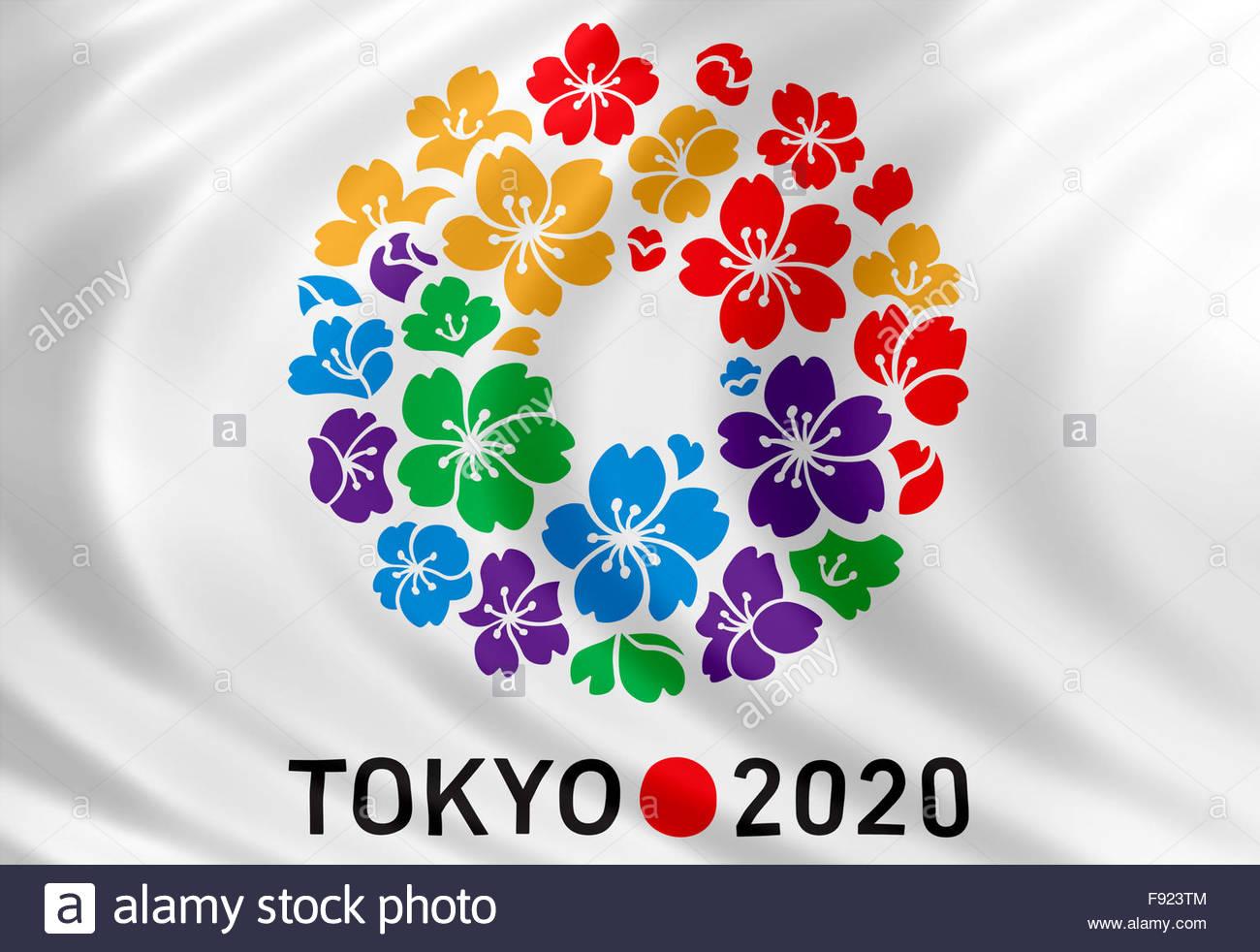 Los Juegos Olimpicos De Tokio 2020 Logotipo Icono Distintivo Foto