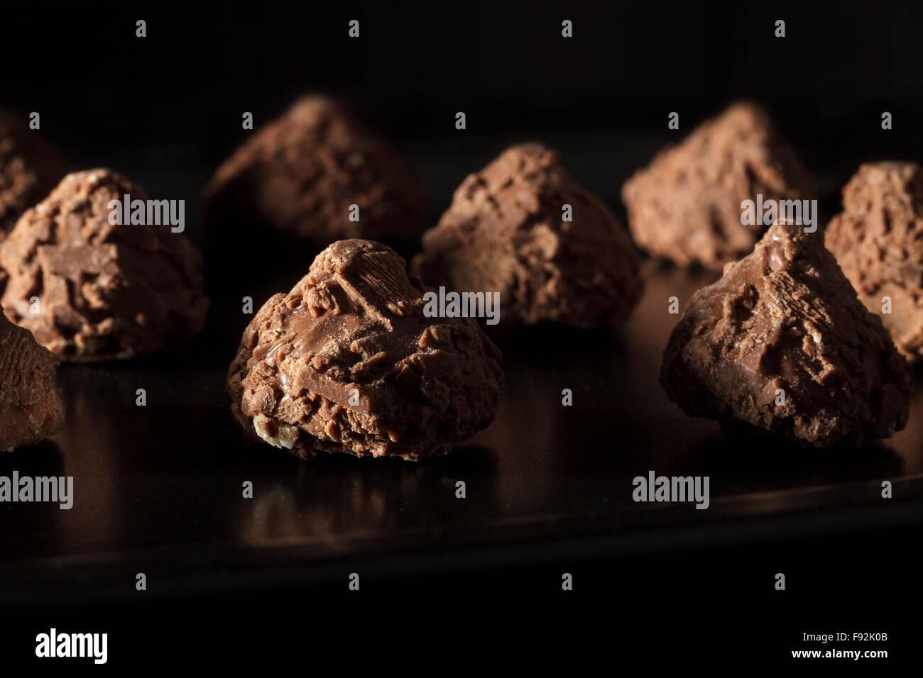Trufas de chocolate Imagen De Stock