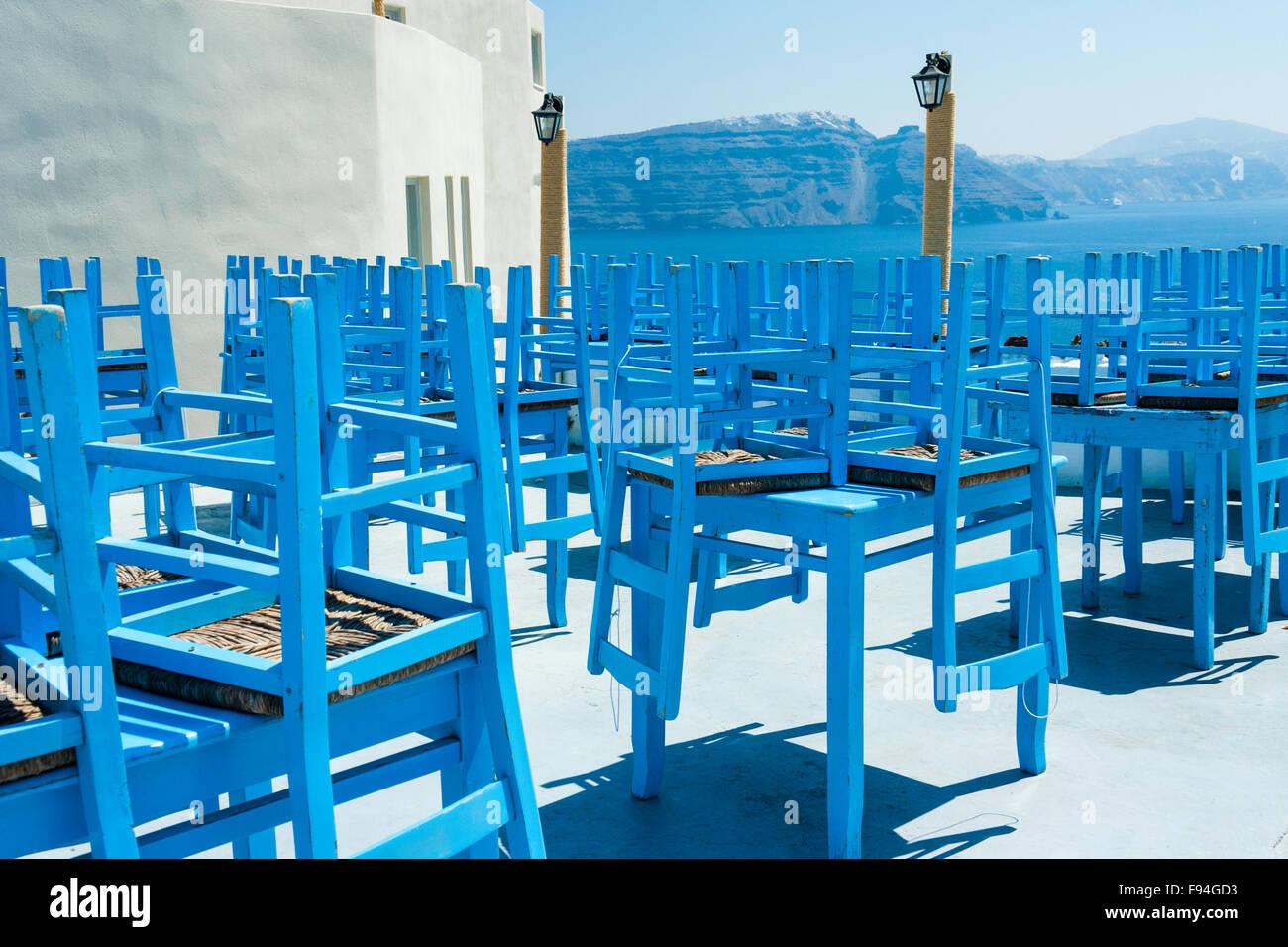 Santorini Terraza Encalada Al Aire Libre Del Restaurante