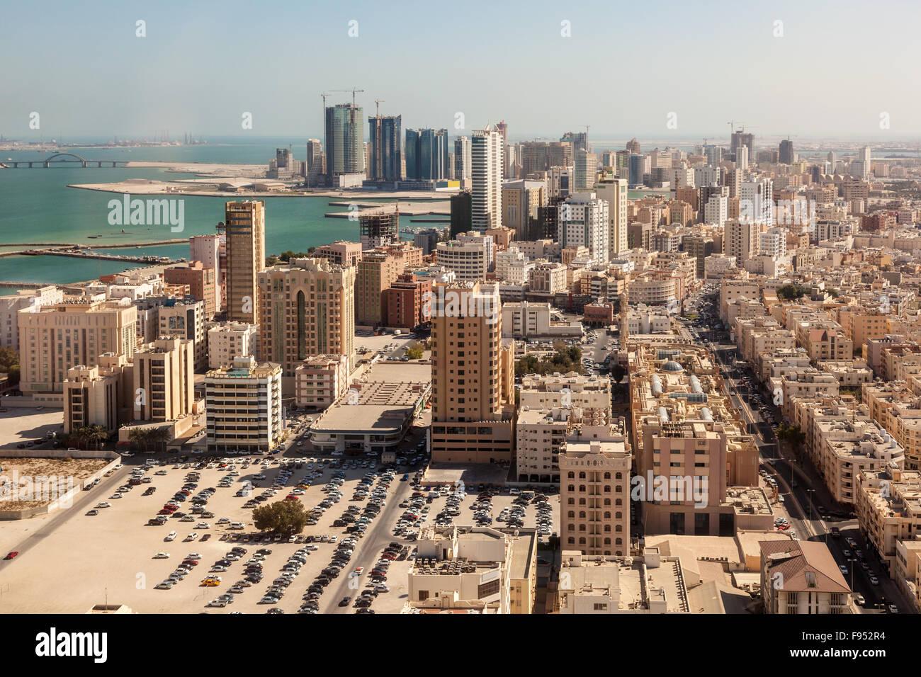 La ciudad de Manama, Bahrein Imagen De Stock