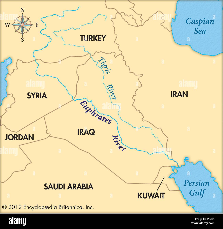 Tigris Y Eufrates Mapa.Tigris And Euphrates Iraq Imagenes De Stock Tigris And