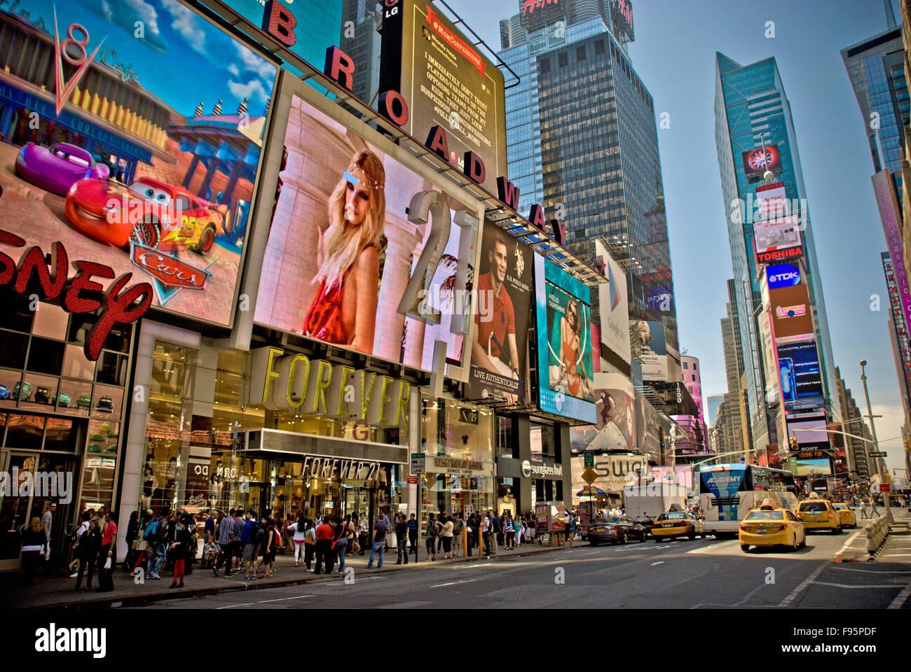 Times Square, Nueva York Imagen De Stock
