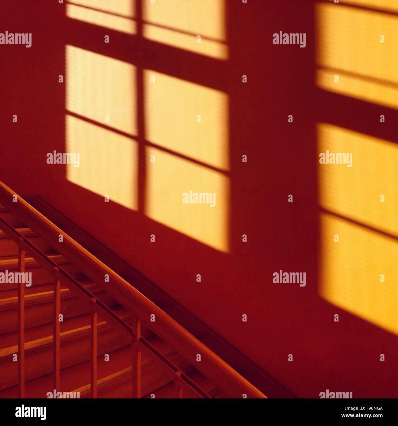 Primer plano de escaleras recortadas Imagen De Stock