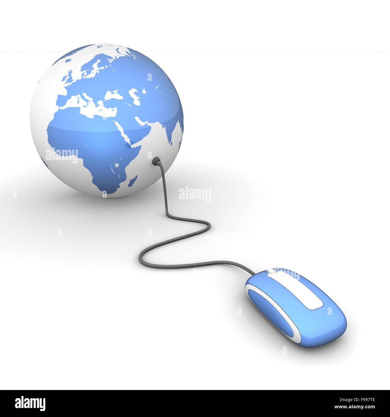Navegar por el mundo - Azul satinado Imagen De Stock