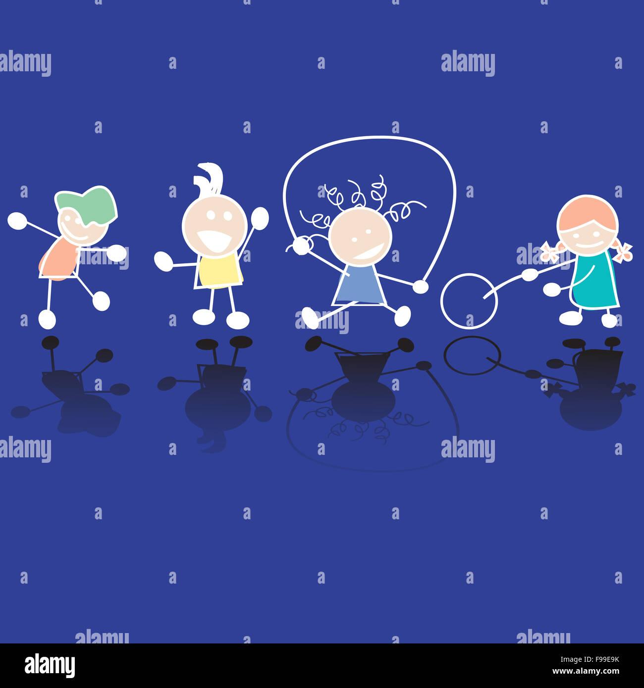Niños en el juego Imagen De Stock