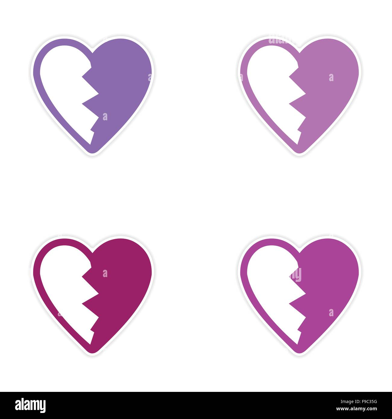 Broken Heart Vector Imágenes De Stock & Broken Heart Vector Fotos De ...