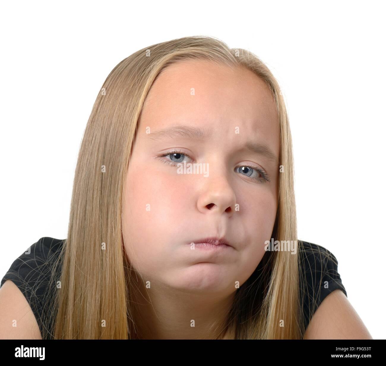 Funny little girl Foto de stock
