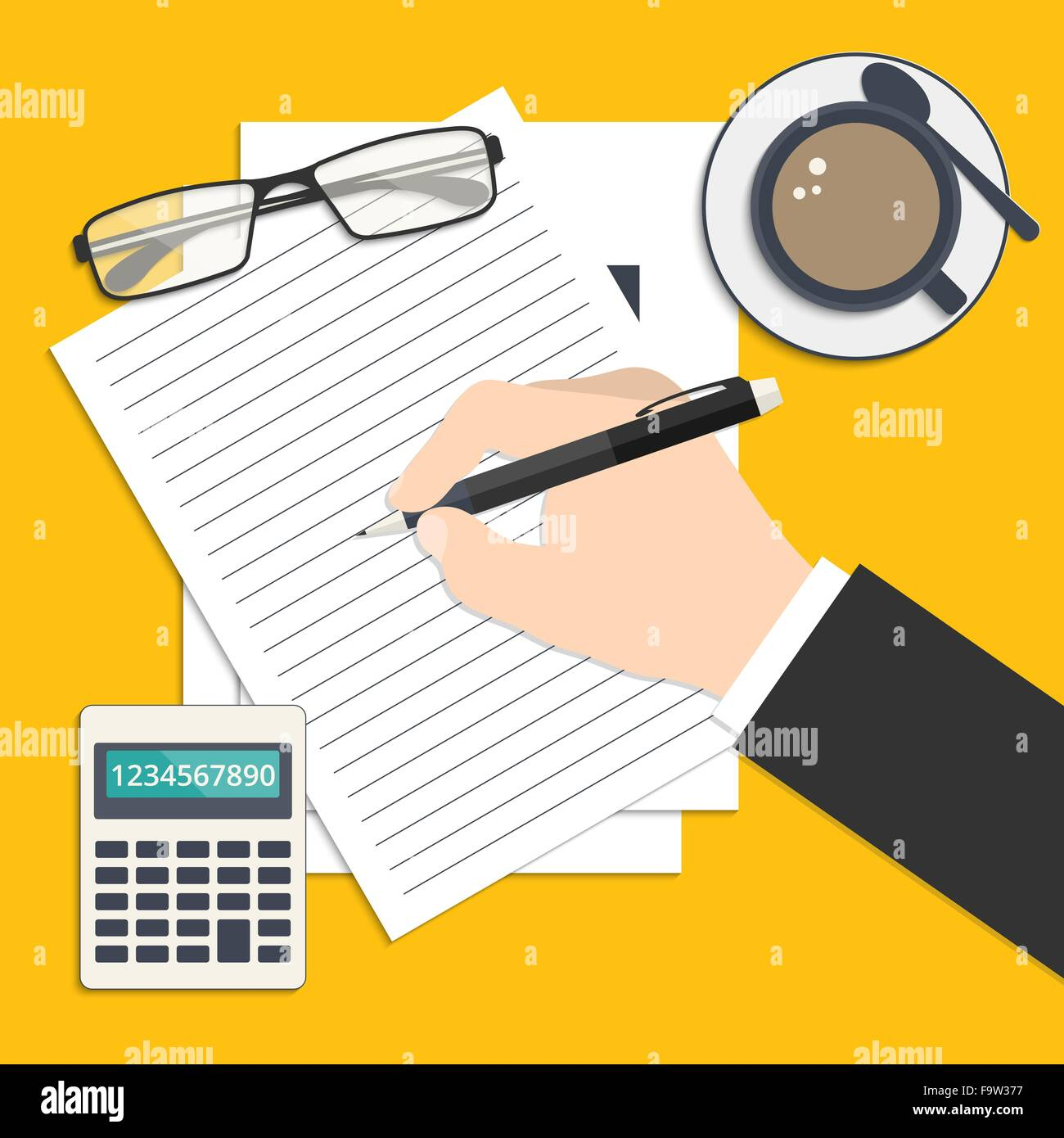 Resume Vector Icons Set Imágenes De Stock & Resume Vector Icons Set ...