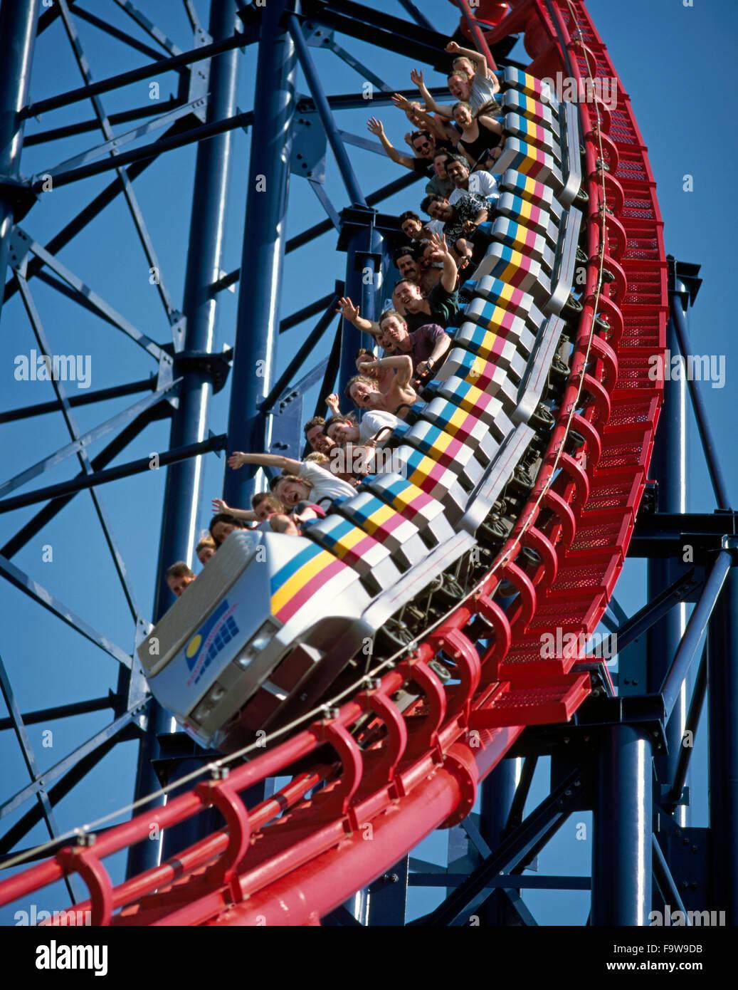 El 'Gordo' paseo de diversiones en Blackpool Pleasure Beach, Blackpool, Lancashire, Inglaterra Imagen De Stock