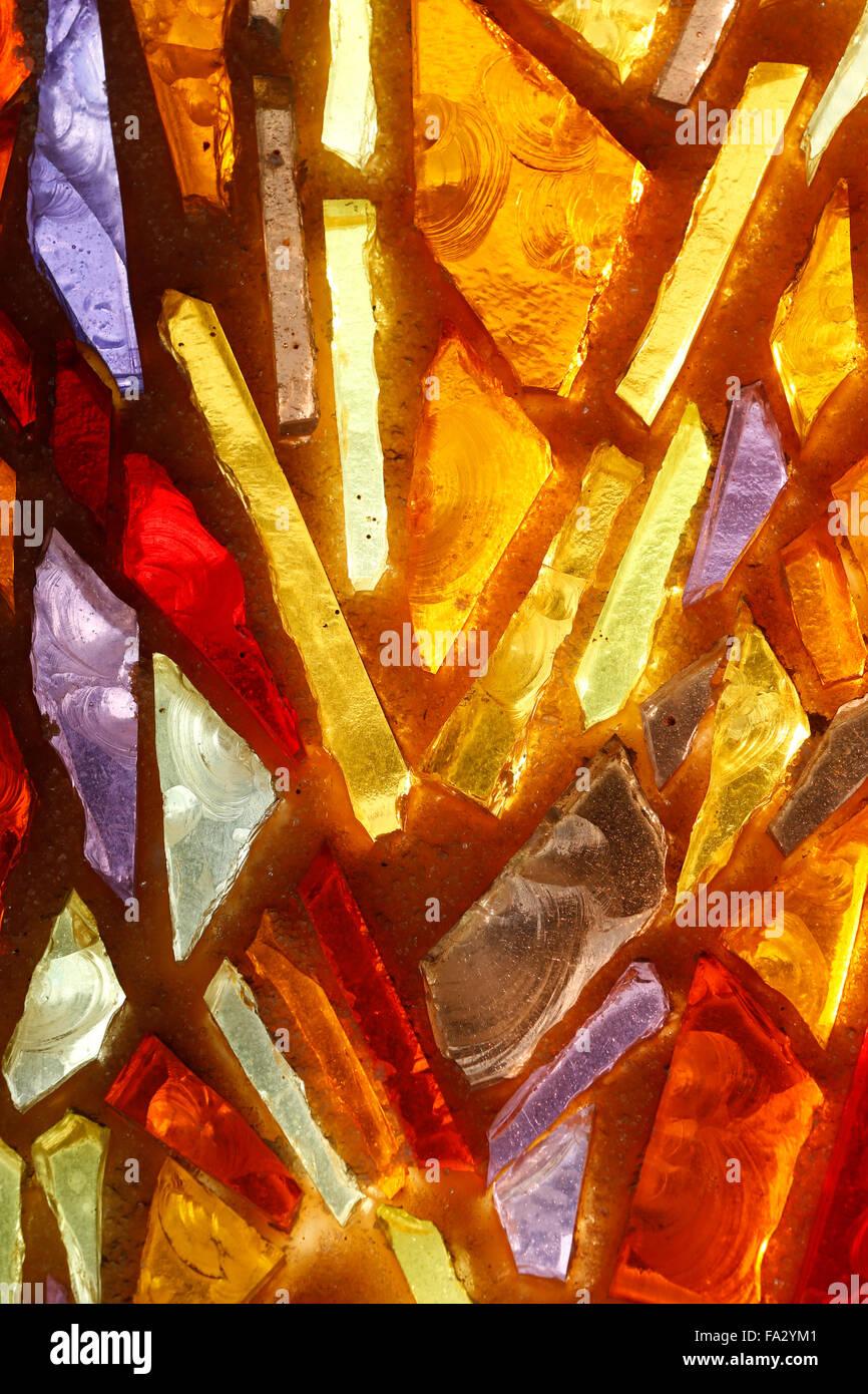 Luminosa vidriera abstracta. Imagen De Stock