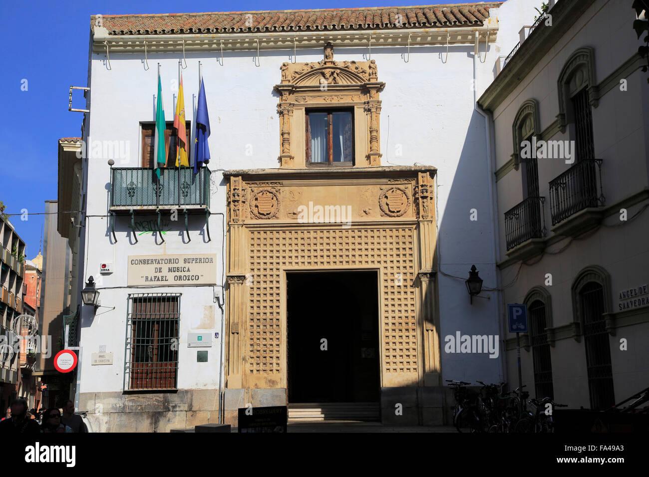 Edificio conservatorio de música, el Conservatorio Superior de Música de Rafael Orozco, en la parte vieja Imagen De Stock