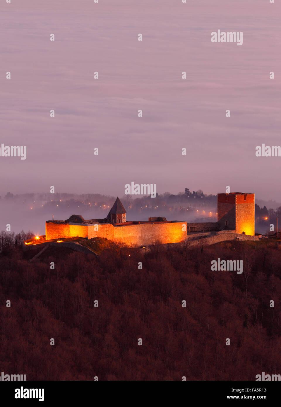 Fort Medvedgrad, cerca de Zagreb, la capital Foto de stock