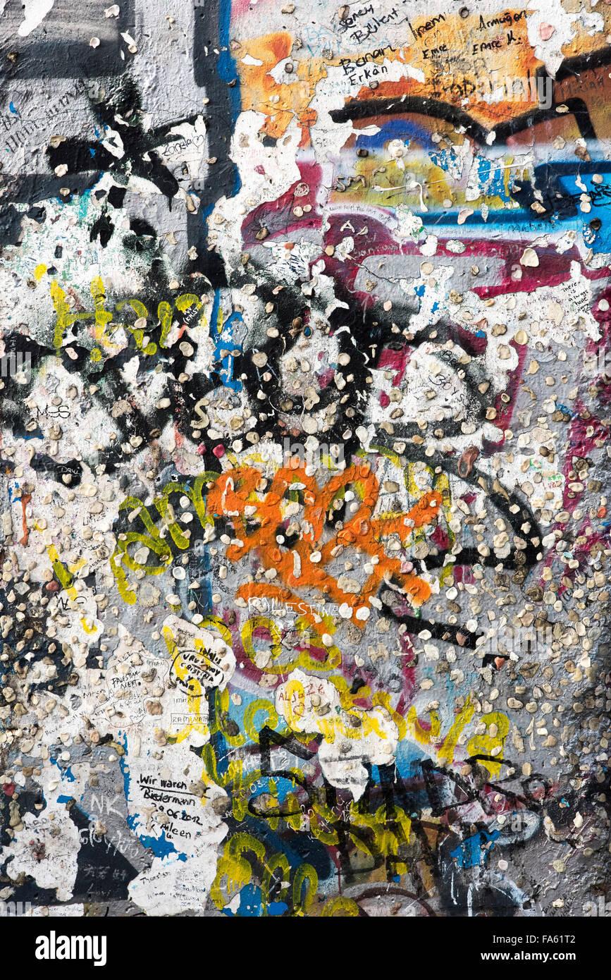 El muro de Berlín en la Potsdamer Platz Berlín ALEMANIA Imagen De Stock