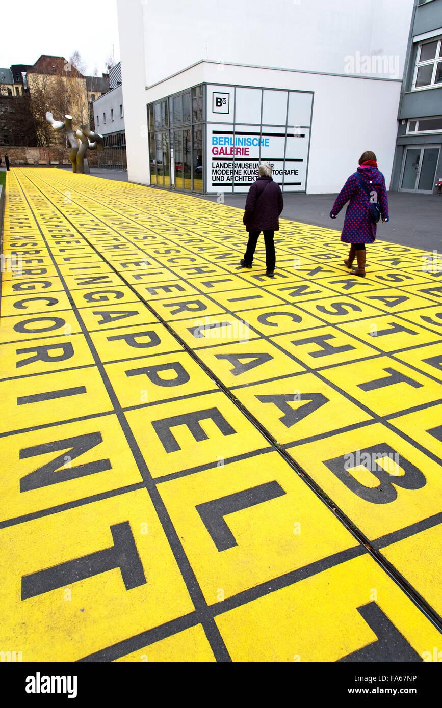 Campo amarillo de cartas Berlinische Galerie Berlin Imagen De Stock
