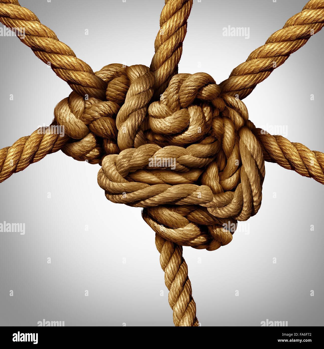Concepto de proceso creativo y la creatividad y el cerebro como un grupo de cables enredados en forma de la mente Imagen De Stock
