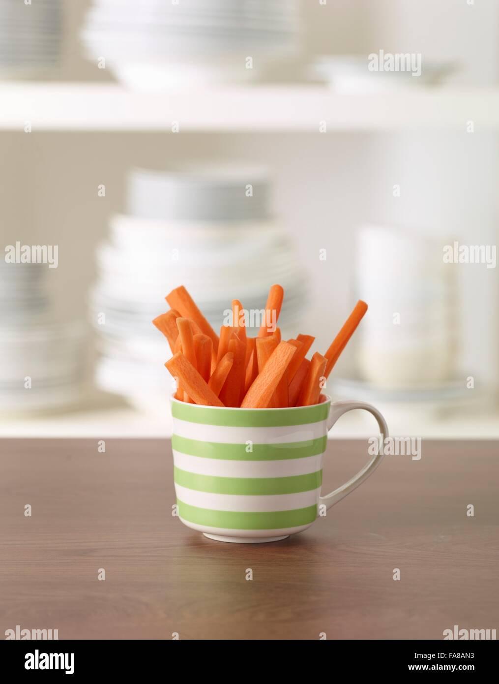 Crudités de zanahoria Foto de stock