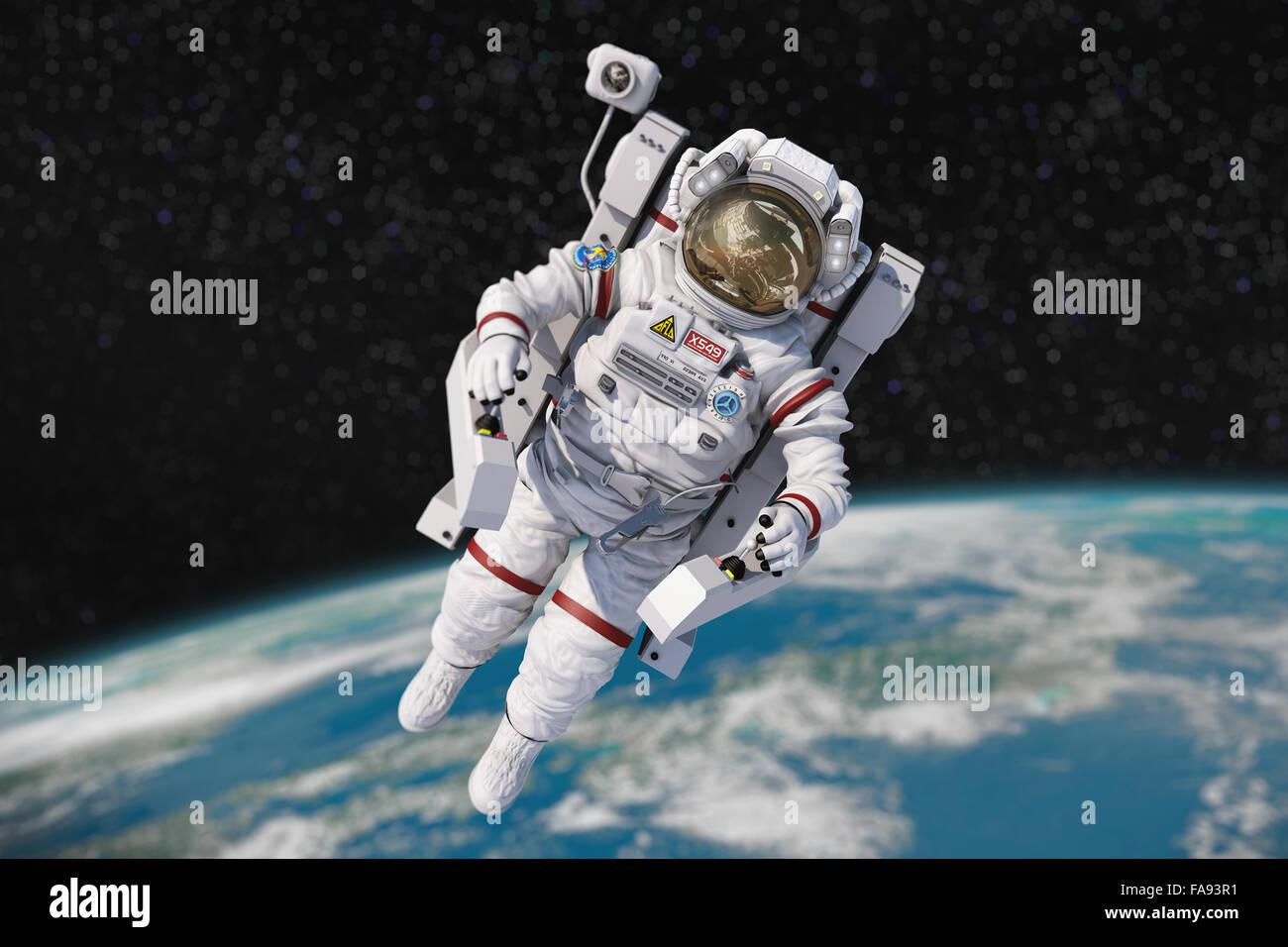 Astronauta Flotando En El Espacio Exterior: Astronauta Imágenes De Stock & Astronauta Fotos De Stock
