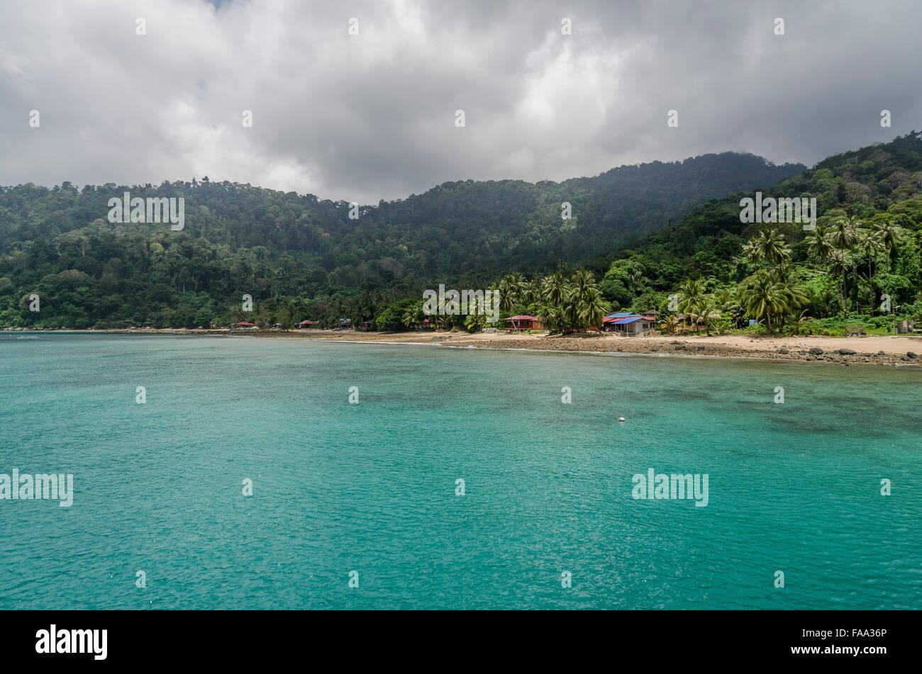 Playa de la isla de Tioman Foto de stock