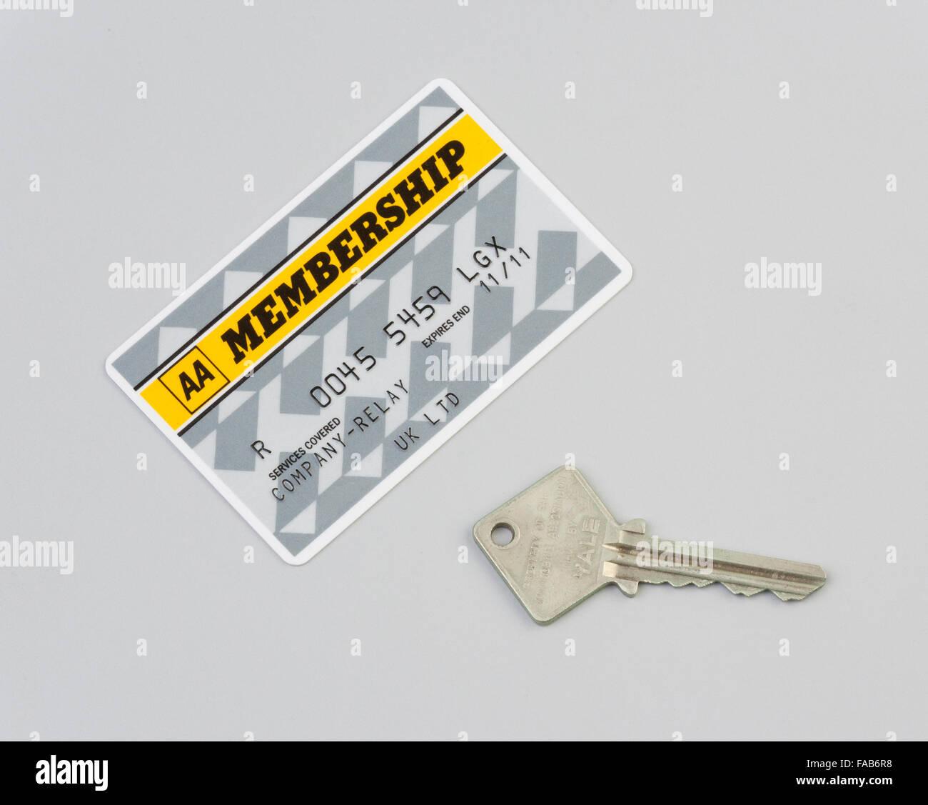 Miembros clave de la tarjeta de miembro de AA Imagen De Stock