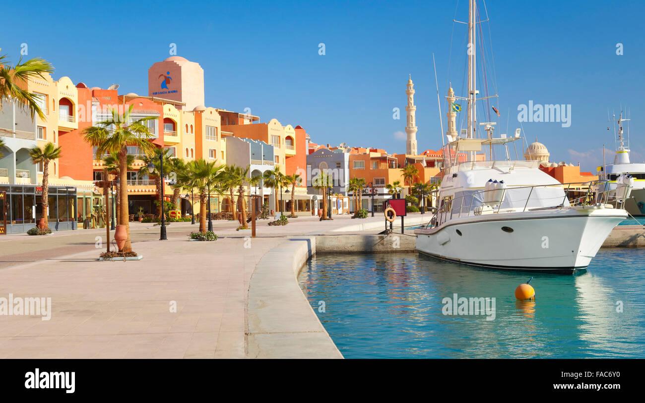 Egipto - ciudad de Hurghada, Marina Imagen De Stock