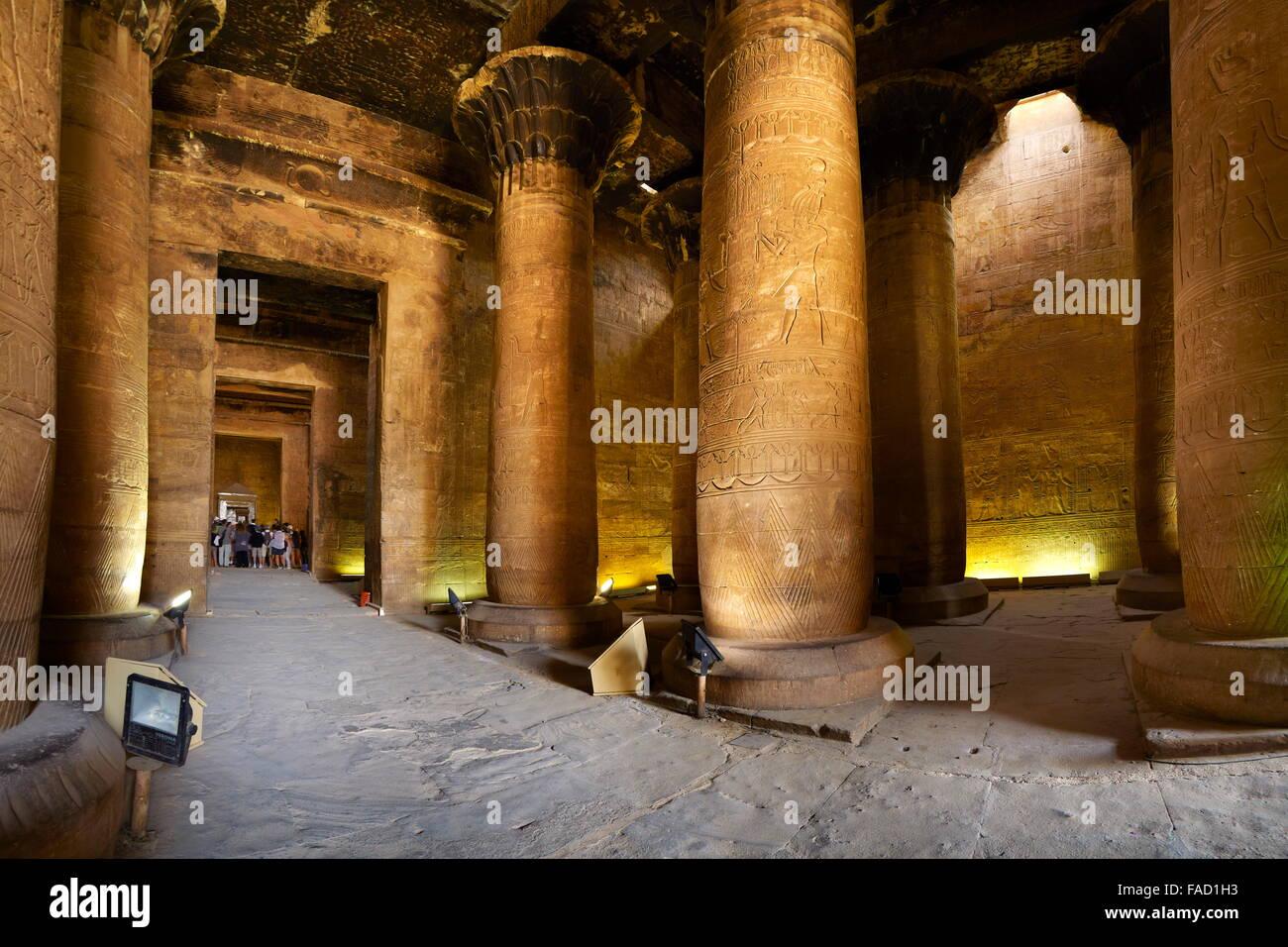 Egipto - Edfu, el templo de Horus Imagen De Stock
