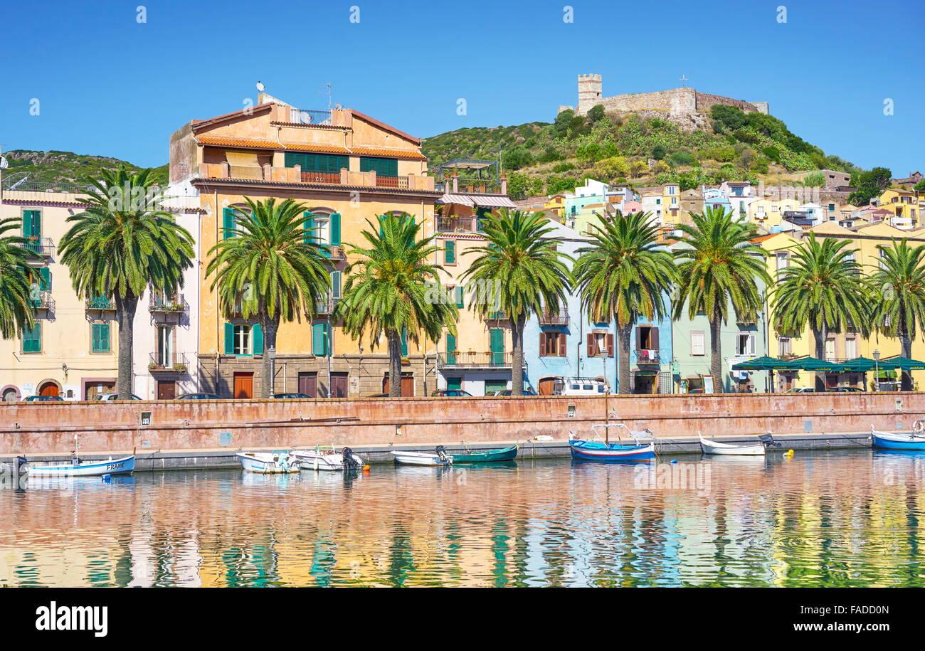 Casco Antiguo de Bosa, Sardegna (Cerdeña, Italia) Foto de stock