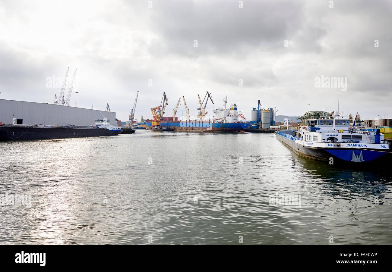 El puerto de Rotterdam, Países Bajos Imagen De Stock
