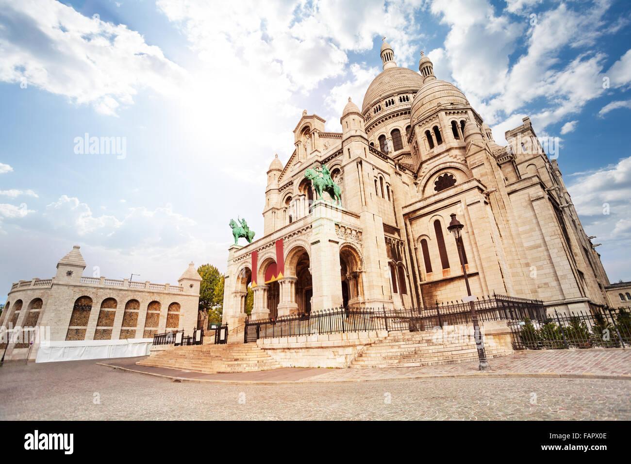 Basílica del Sagrado Corazón, en París, Francia Foto de stock