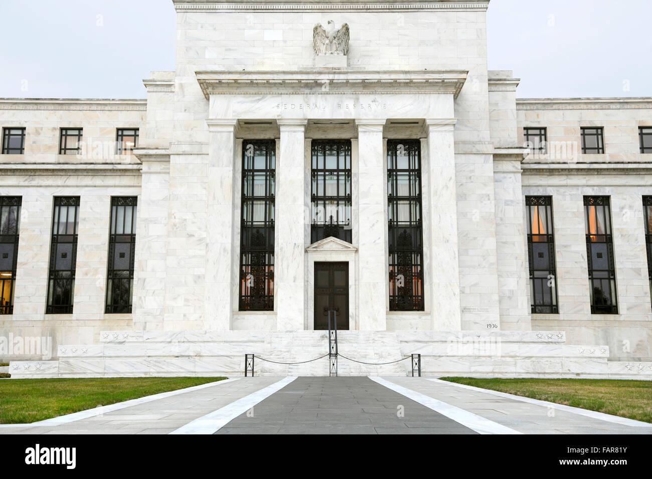 Edificio de la Reserva Federal de Estados Unidos, Washington, D.C. Foto de stock
