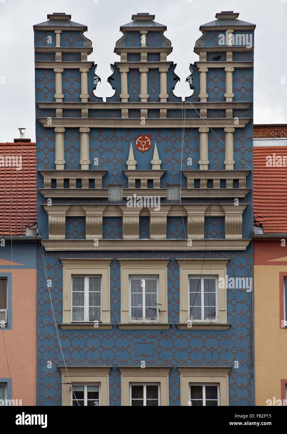 Brzeg Brieg, Marktplatz Nordostseite Imagen De Stock