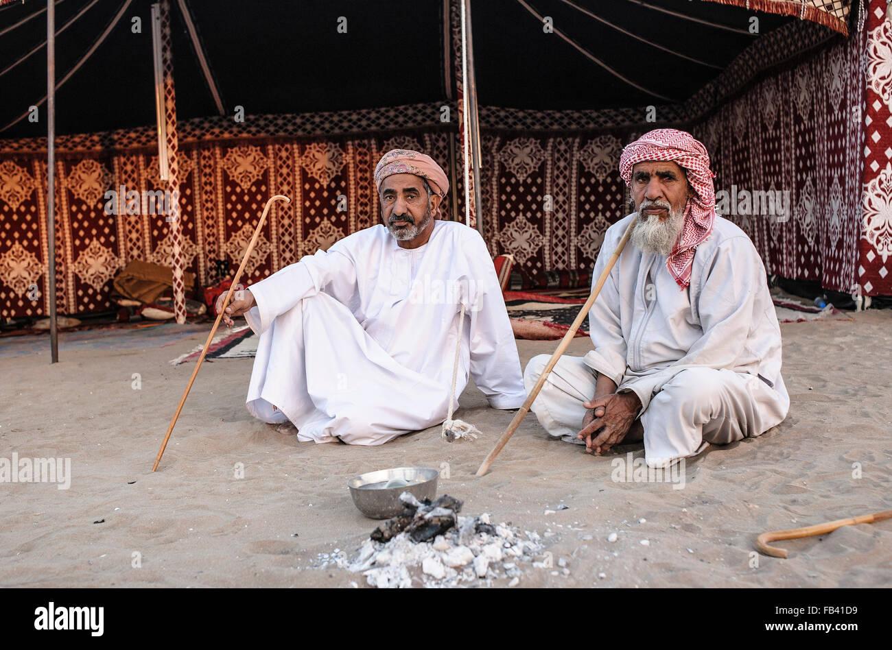 Los beduinos de Omán Imagen De Stock