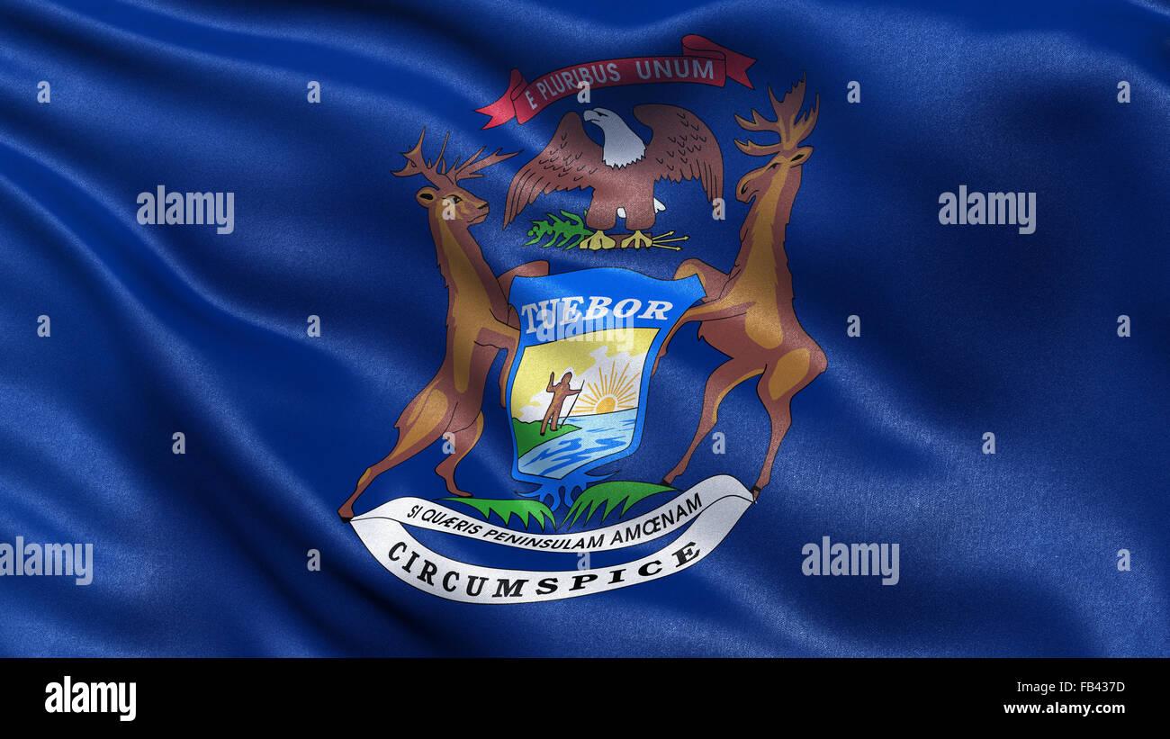 Nosotros bandera del estado de Michigan Foto & Imagen De Stock ...