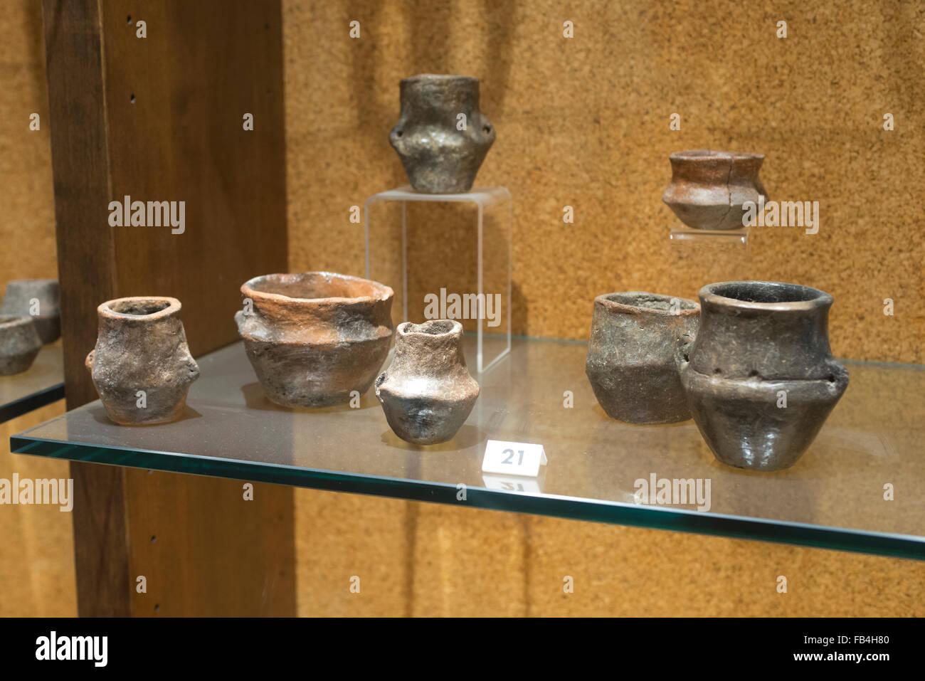 Habitación desde la Edad de Bronce, el Museo Arqueológico Nacional de Cagliari, Cerdeña Foto de stock