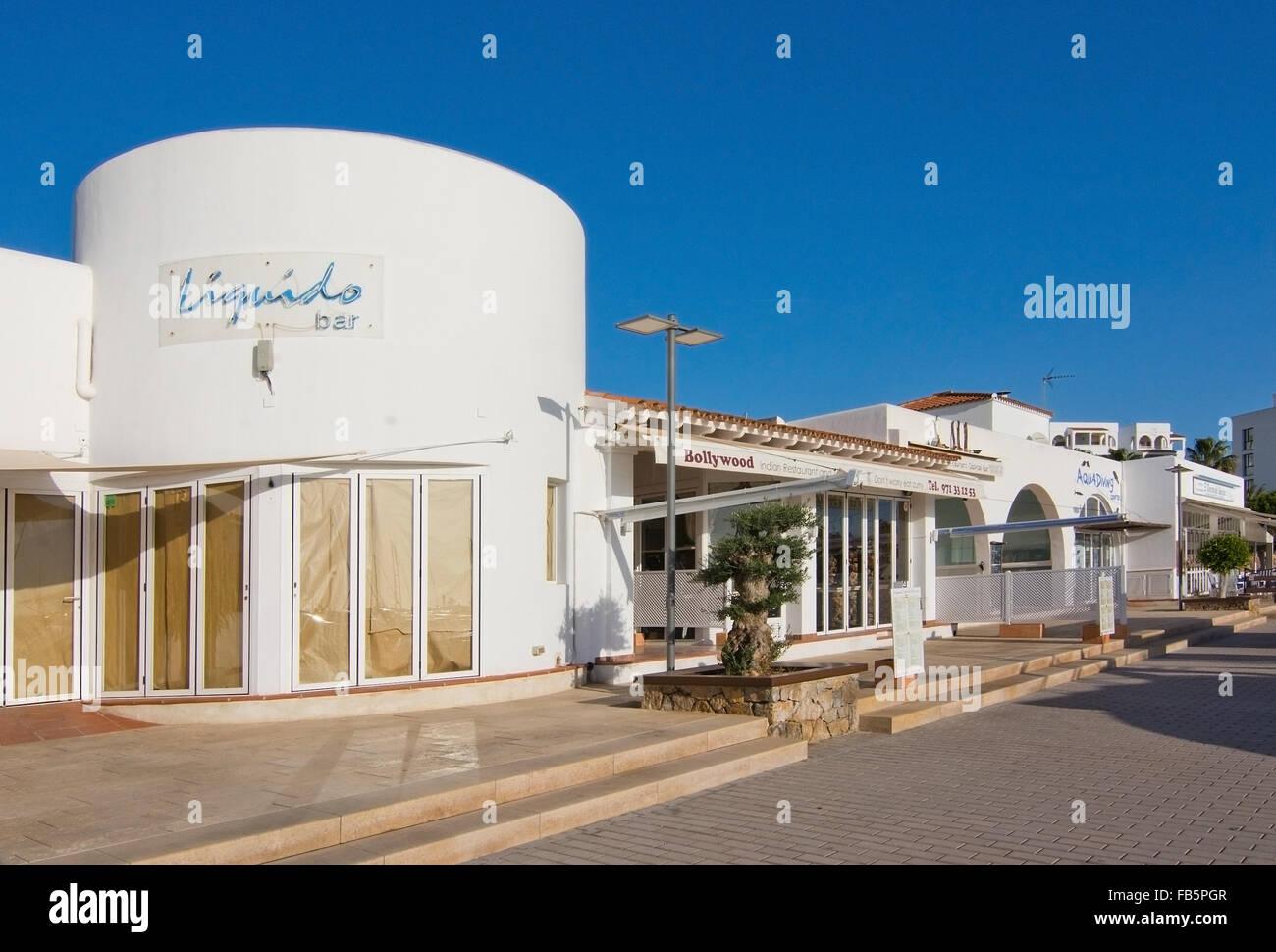 Detalles en el puerto de Santa Eulalia en un día soleado, Ibiza, Islas Baleares, España Imagen De Stock