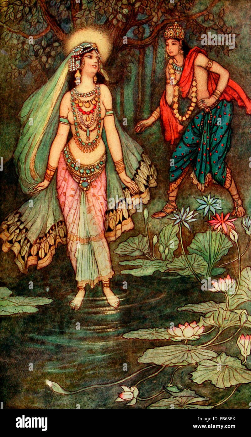 Shantuna cumple la Diosa Ganga Imagen De Stock