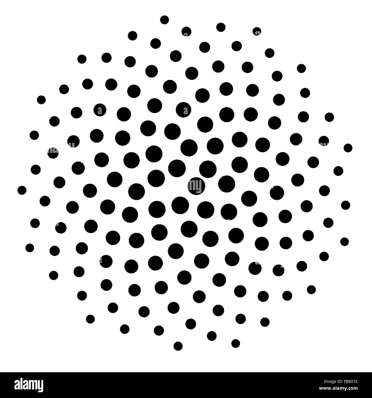Royalty free clipart ilustración de una espiral negro matemáticas ...