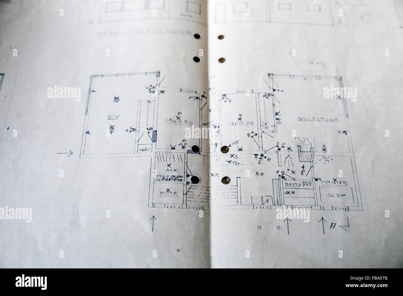 En Suecia, el plan de remodelación de la casa Imagen De Stock
