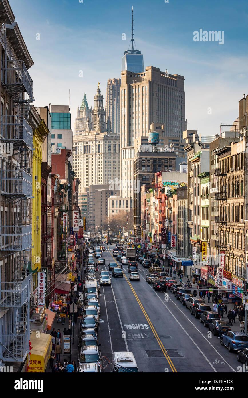 Chinatown, Manhattan, Nueva York, EE.UU. Imagen De Stock