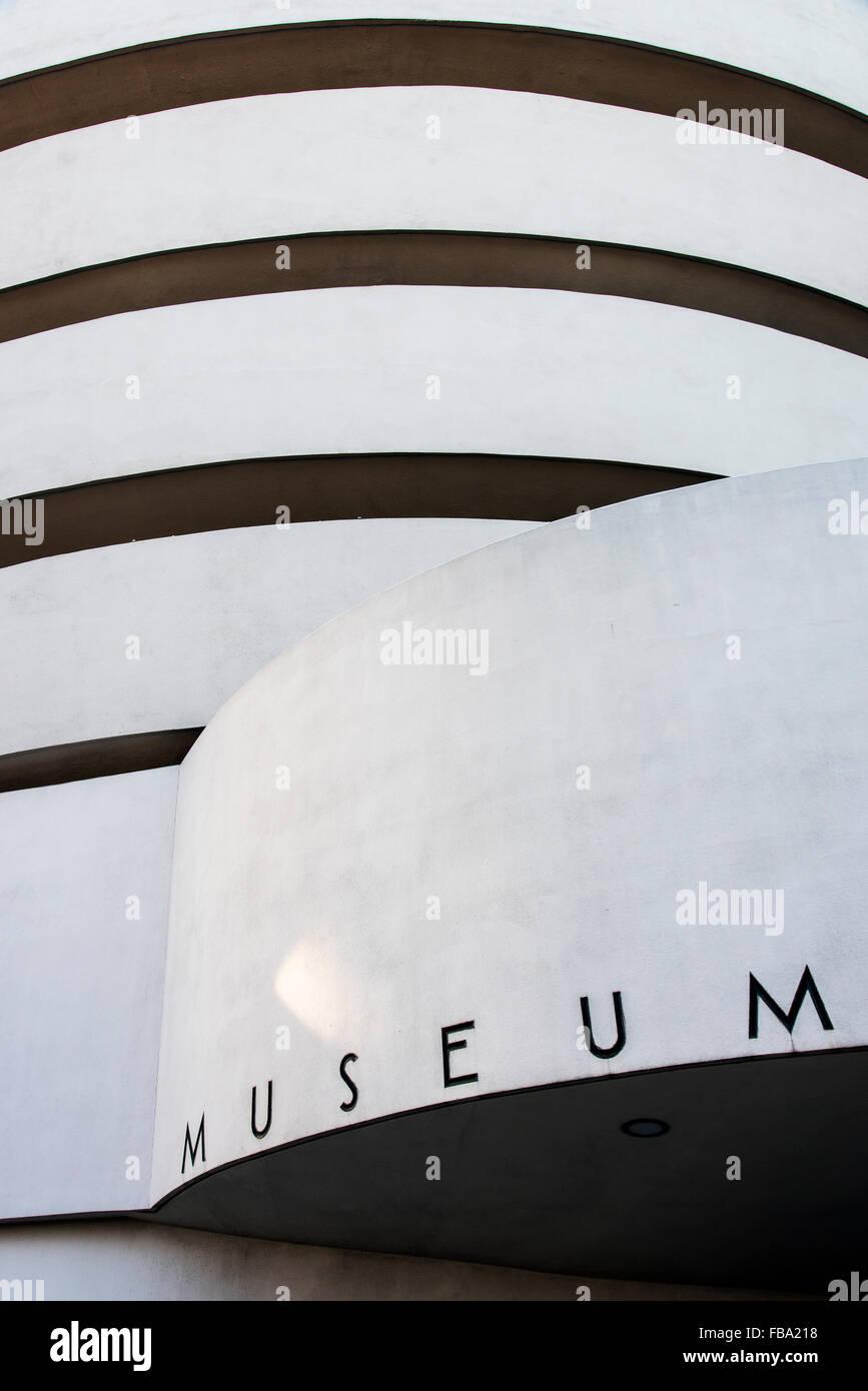 Solomon R. Guggenheim Museum, Manhattan, Nueva York, EE.UU. Imagen De Stock