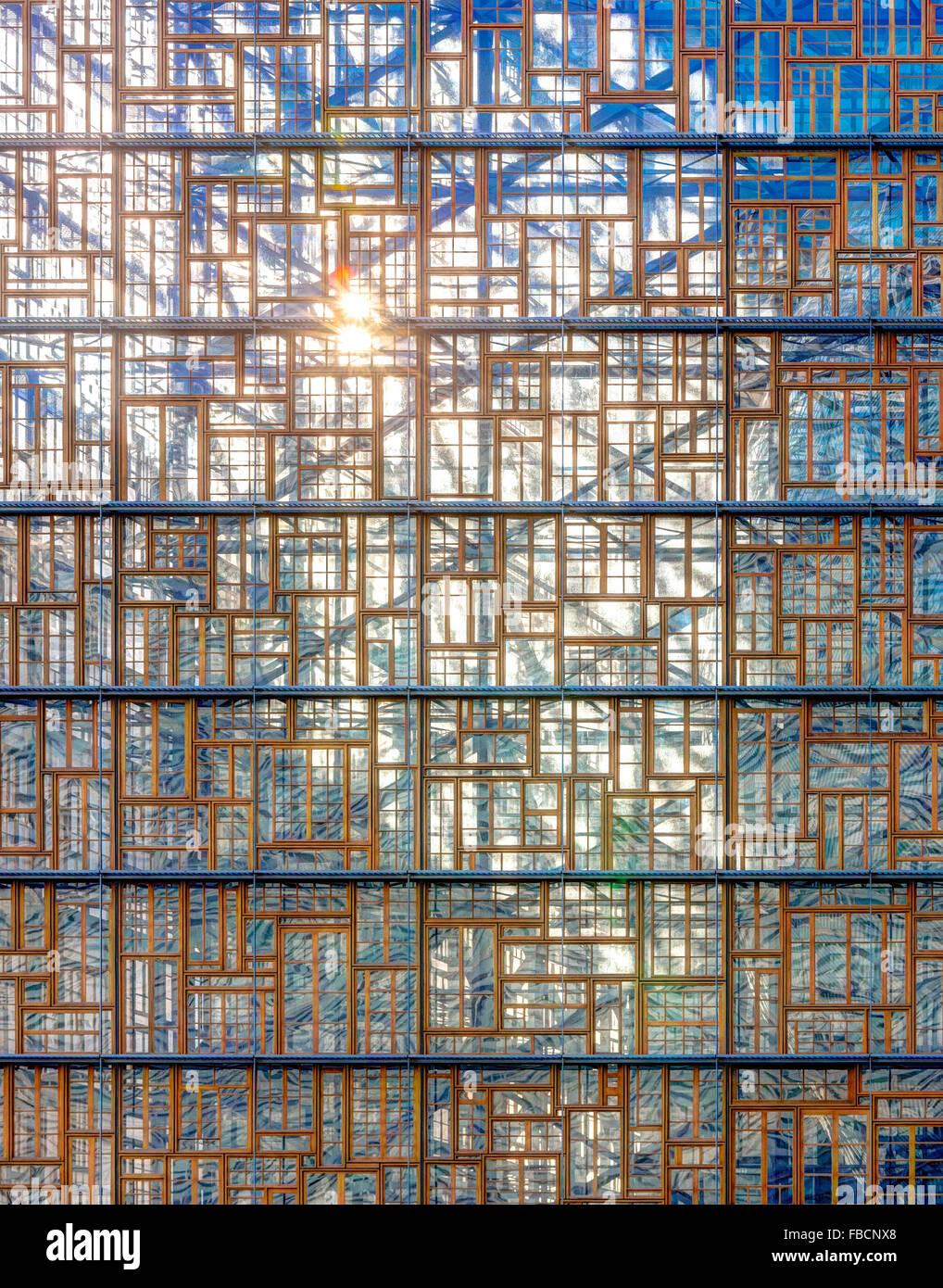 Bruselas, Europa nuevo edificio, diseñado por Philippe Samyn & Asociados, es la nueva sede del Consejo Imagen De Stock