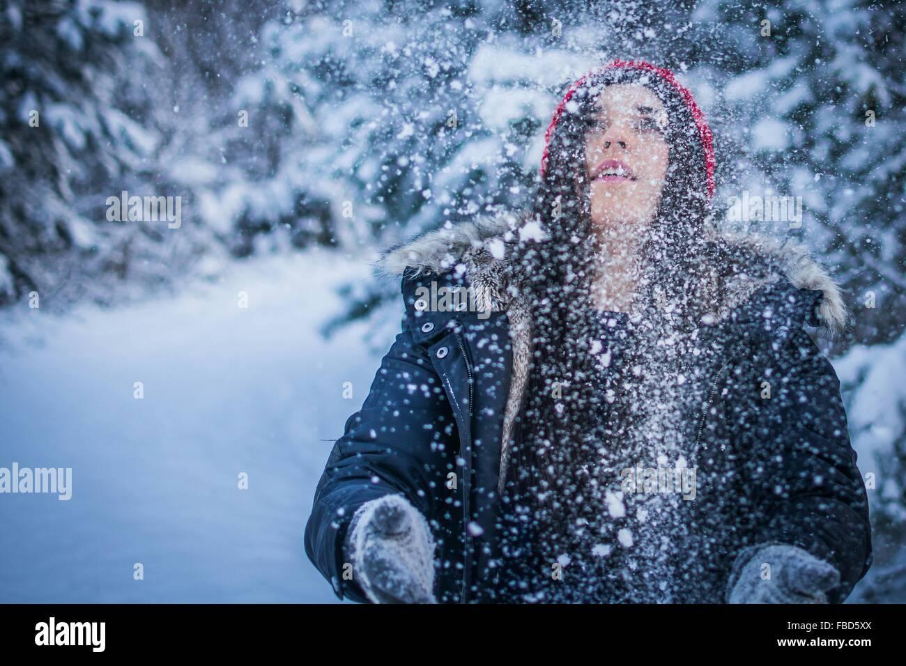 Mujer de nieve Imagen De Stock