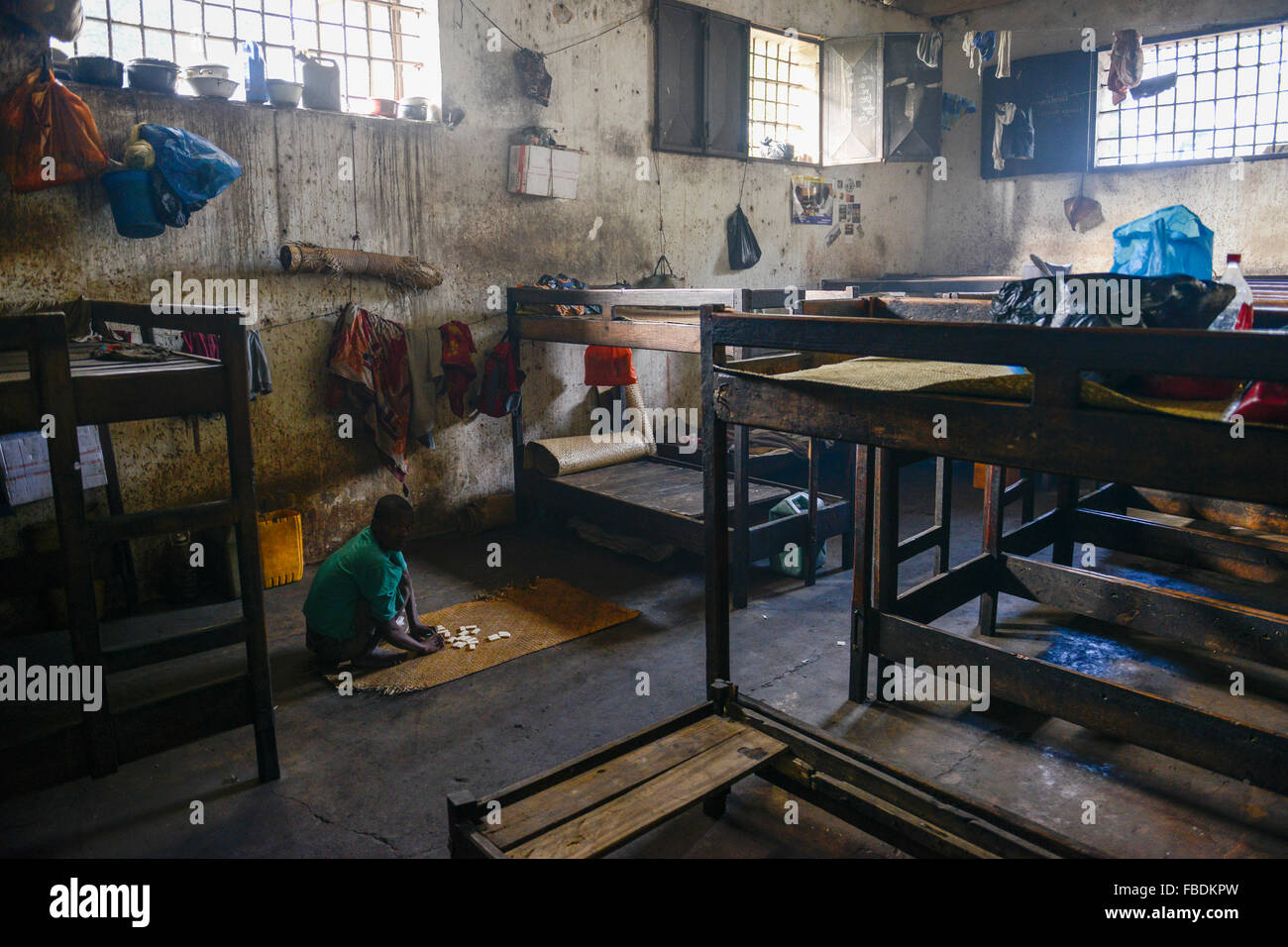 MADAGASCAR, Mananjary, prisión, muchos detenidos esperar largo tiempo para su juicio Foto de stock