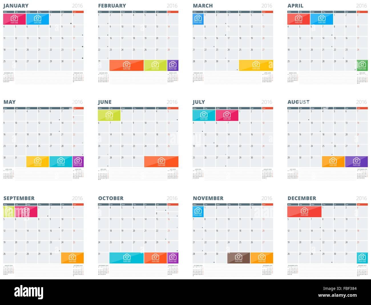 Calendario Vectores.Vector Conjunto De Calendario Vectores Imagenes De Stock