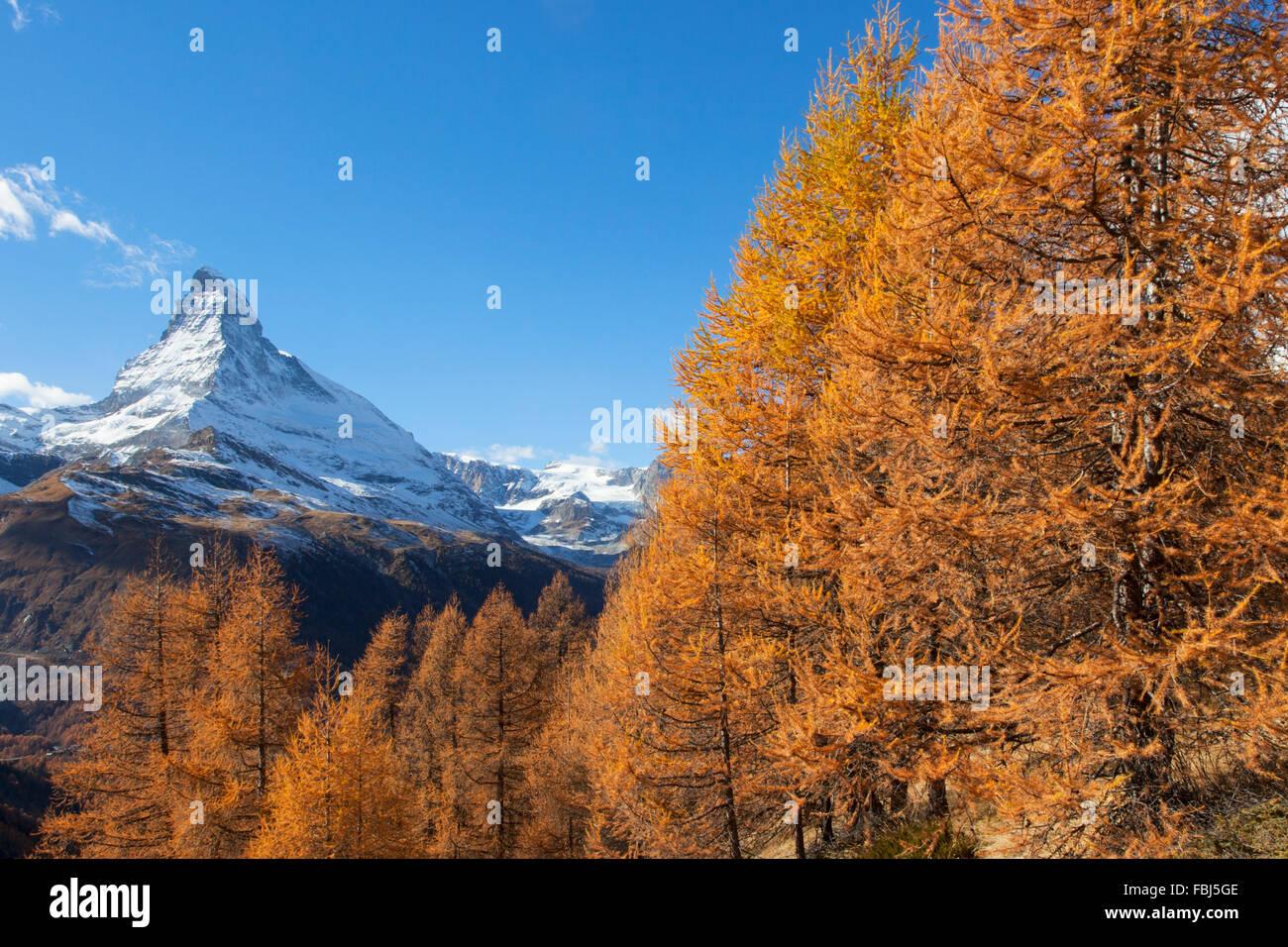 El Matterhorn, Valais, Suiza Foto de stock