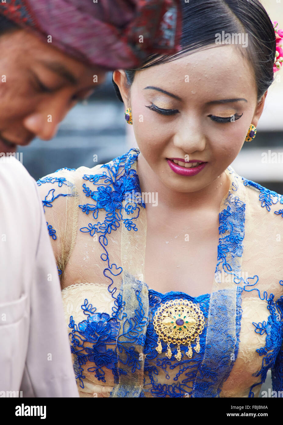 Los jóvenes novios, Nativo, reportajes, bodas tradicionales, Bali, Indonesia, Asia Imagen De Stock