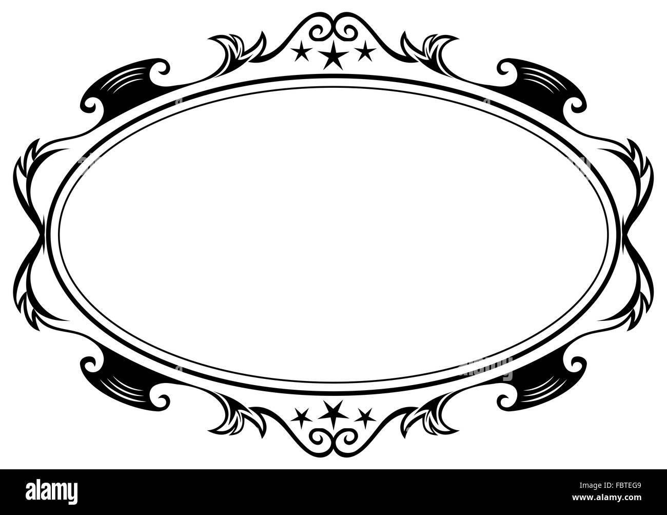 Antiguo marco ovalado Foto & Imagen De Stock: 93351337 - Alamy