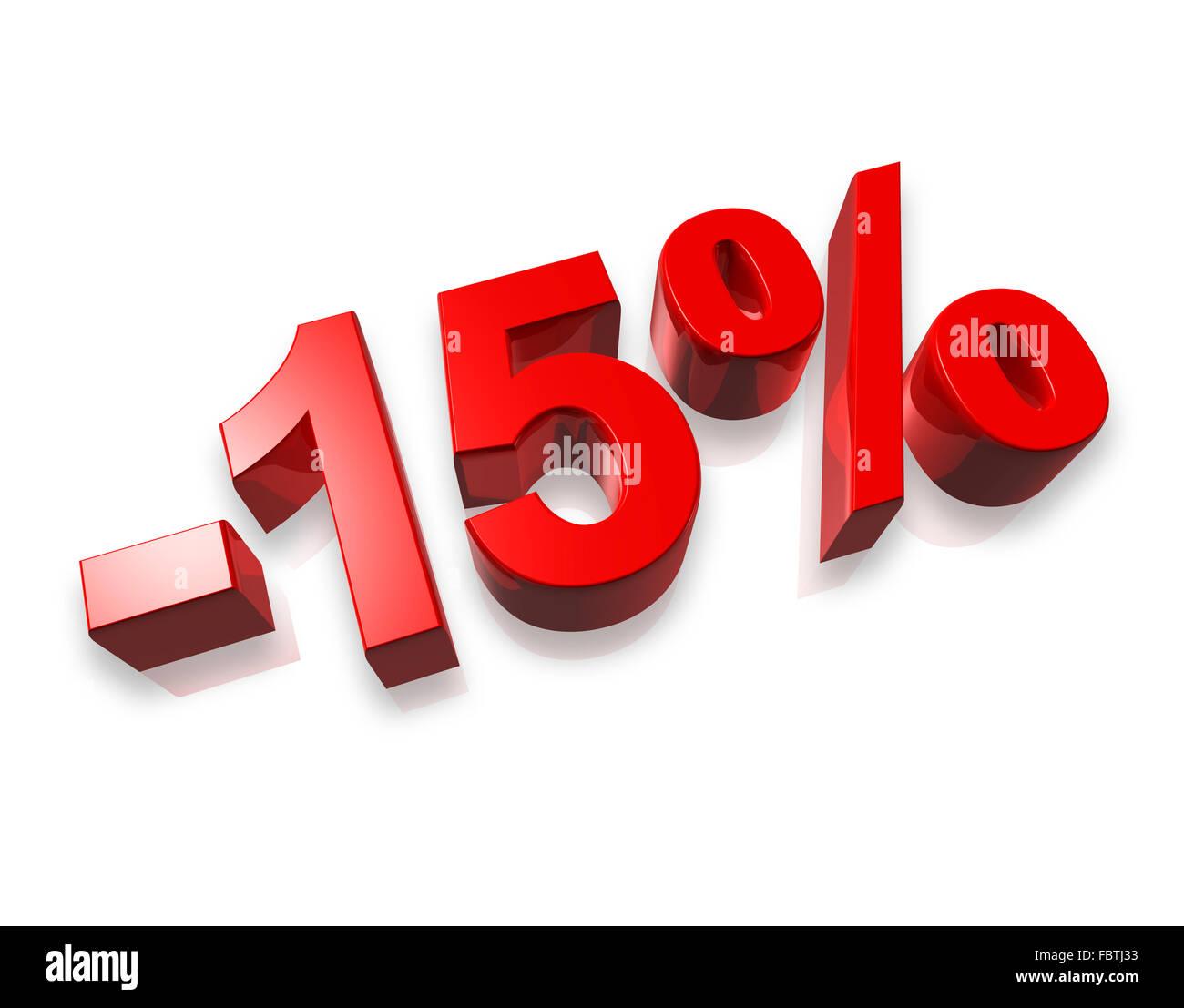 15% 15% Imagen De Stock